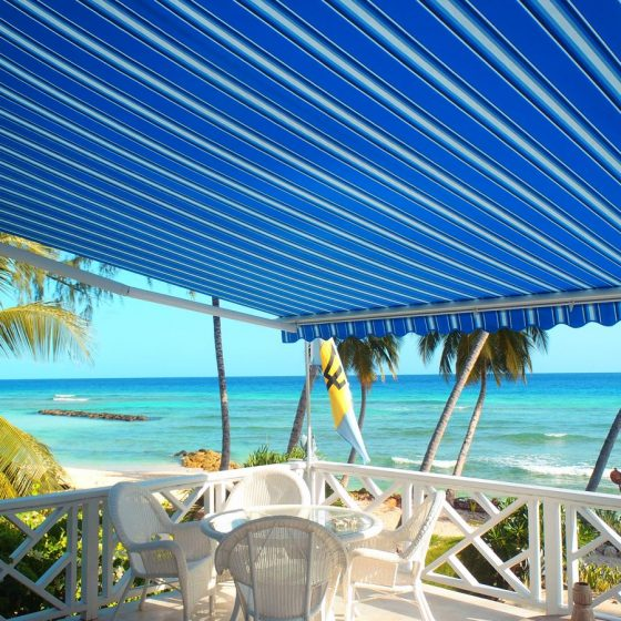 Awnings on a Beach House in Barbados