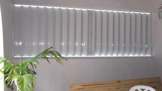 Accordion Shutters White Residential