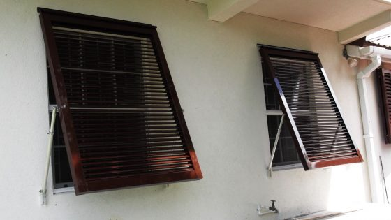 Brown Aluminum Bahama Shutters