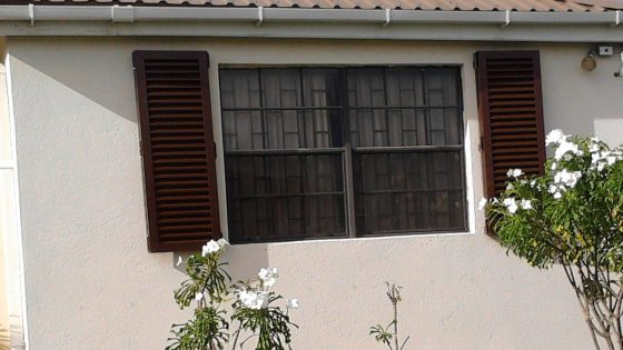 Brown Colonial Shutters
