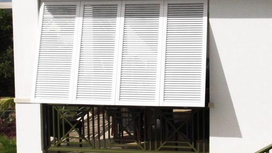 Royal Westmoreland Home with Bahama Shutters for Hurricane Protection