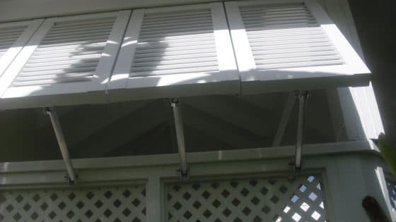 Example of Aluminum Bahama Shutters