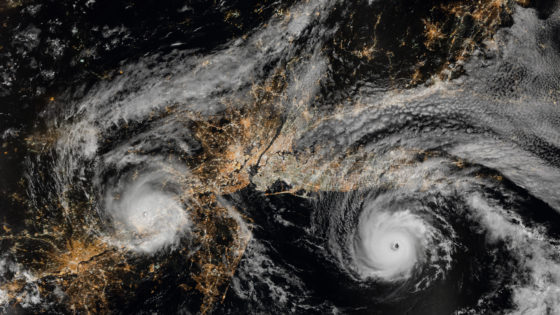 can 2 hurricanes join together?